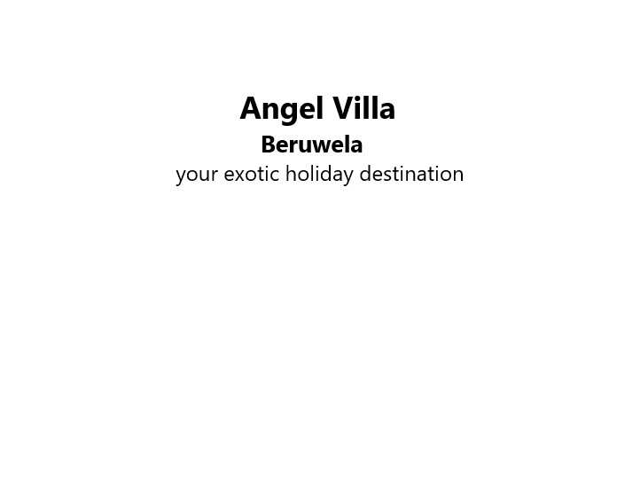 Angel Villa Beruwela